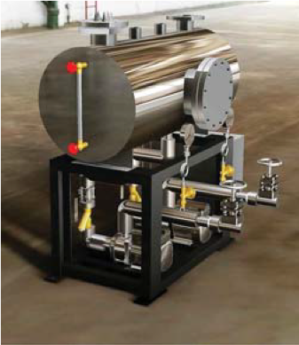 condensate recovery steam skid system